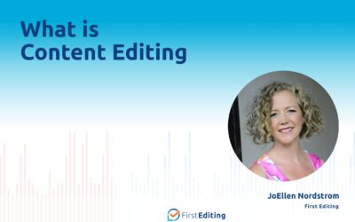 What is Content Editing with JoEllen Nordstrom